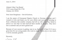 Emmanuel Baptist Church Endorsement